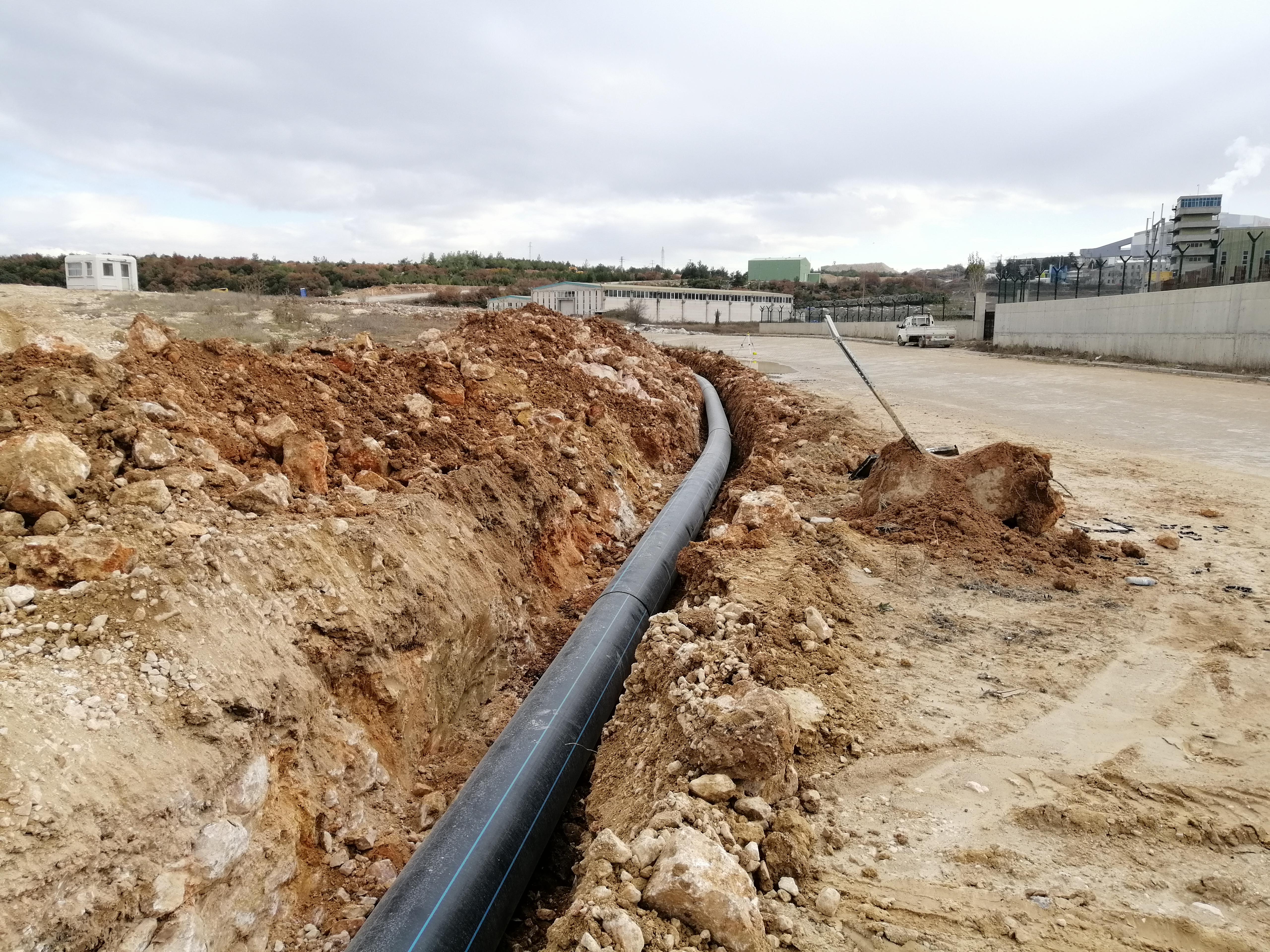 İlave Kanalizasyon Hattı Yapım İşi Tamamlanmıştır